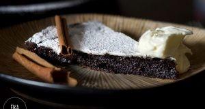 Tarta sueca de chocolate sin harina